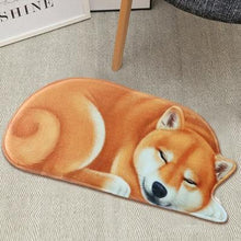 Load image into Gallery viewer, Sleeping Dogs Shaped Doormat / Floor RugMatAkita / Shiba InuSmall