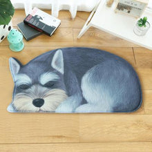 Load image into Gallery viewer, Sleeping Dogs Shaped Doormat / Floor RugMatSchnauzerSmall