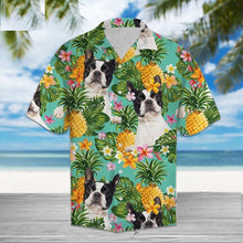 Load image into Gallery viewer, Boston Terrier Love Hawaiian Mens Shirt