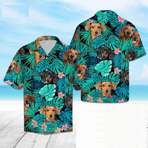 Dachshund Love Hawaiian Mens Shirt