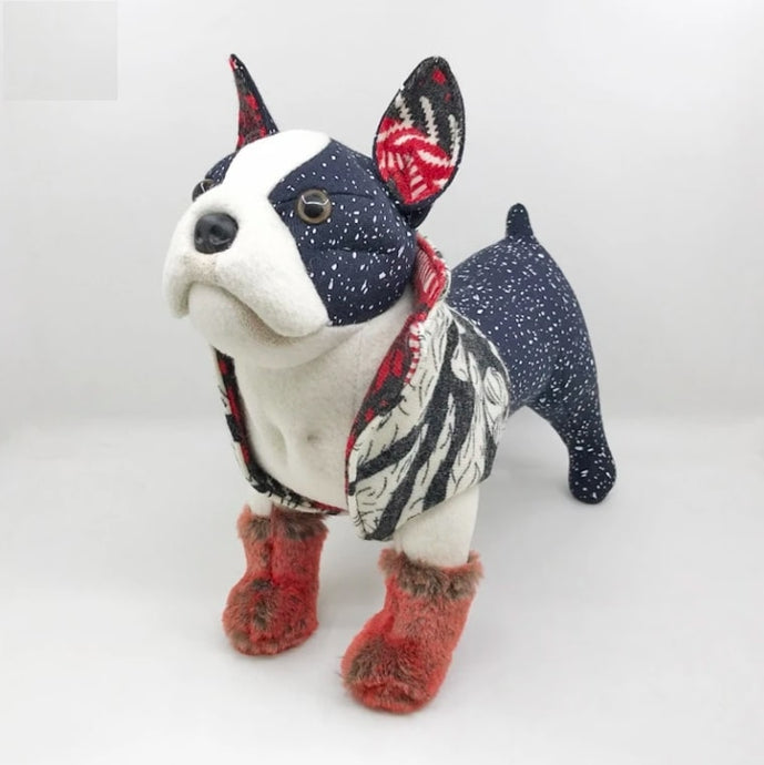Glamorous Boston Terrier Soft Plush Toy