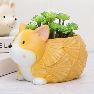 Cutest Standing Corgi Love Succulent Plants Flower Pots