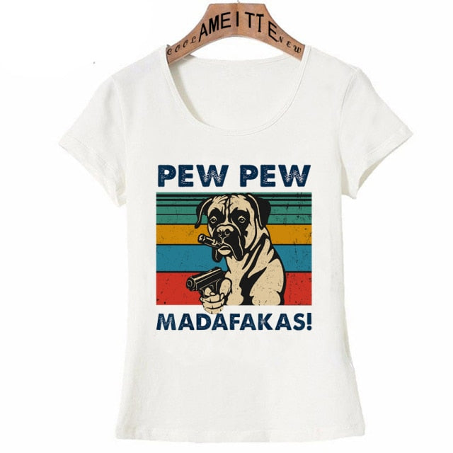 Pew Pew Boxer Womens T Shirt
