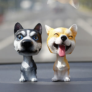 Husky Love Car Bobble Head