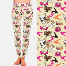 Load image into Gallery viewer, White Chihuahua Love Women's Leggings
