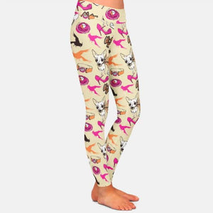 White Chihuahua Love Women's Leggings
