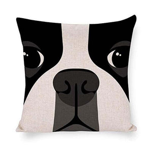 Abstract Boston Terrier Cushion CoverHome Decor