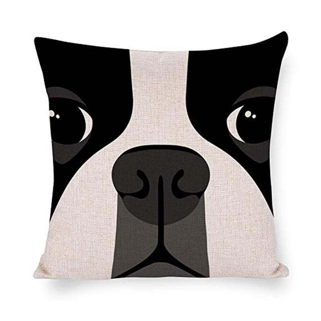 Abstract Boston Terrier Cushion CoverHome DecorDefault Title