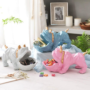 Abstract English Bulldog Tabletop OrganiserHome Decor