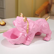 Load image into Gallery viewer, Abstract English Bulldog Tabletop OrganiserHome DecorPink
