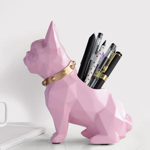Abstract French Bulldog Table Top Pen or Pencil HolderHome Decor
