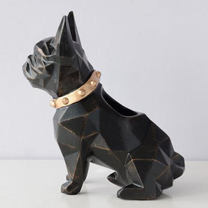 Abstract French Bulldog Table Top Pen or Pencil HolderHome DecorBlack