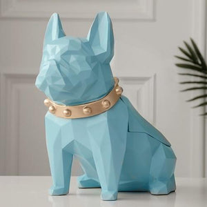 Abstract Frenchie Decorative Resin Tissue BoxHome Decor