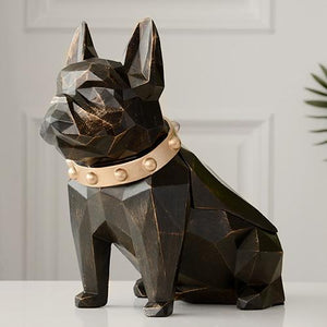 Abstract Frenchie Decorative Resin Tissue BoxHome DecorBlack