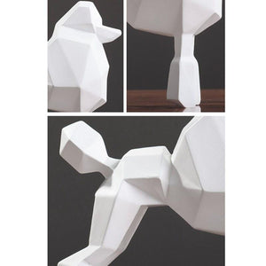Abstract Poodle Resin SculptureHome Decor