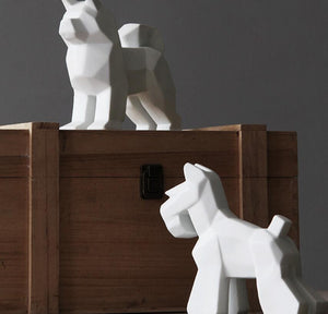 Abstract Schnauzer and Samoyed Ceramic SculptureHome Decor