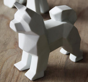 Abstract Schnauzer and Samoyed Ceramic SculptureHome DecorSamoyed