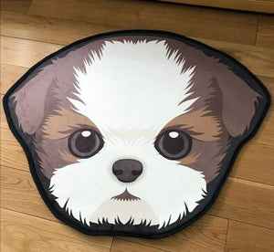Cutest Doggo Floor RugHome DecorLhasa Apso / Norfolk Terrier / Shih TzuMedium