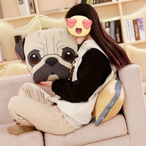 Adorable Pug Sofa CushionHome Decor