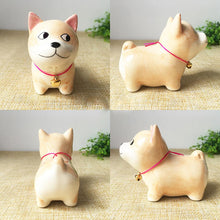 Load image into Gallery viewer, Akita / Shiba Inu Love Ceramic Car Dashboard / Office Desk OrnamentHome Decor