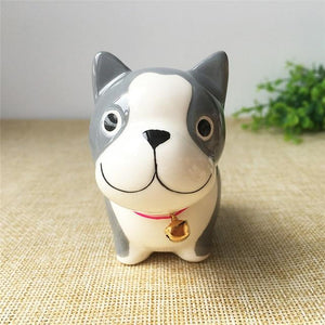 Akita / Shiba Inu Love Ceramic Car Dashboard / Office Desk OrnamentHome DecorEnglish Bulldog