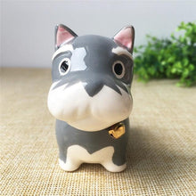 Load image into Gallery viewer, Akita / Shiba Inu Love Ceramic Car Dashboard / Office Desk OrnamentHome DecorMini Schnauzer