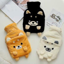 Load image into Gallery viewer, Akita / Shiba Inu Love Hot Water Bottle Plush Hand WarmerHome Decor