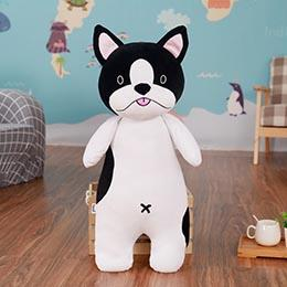 Akita / Shiba Inu Love Huggable Stuffed Toy PillowHome DecorBoston Terrier / French BulldogSmall