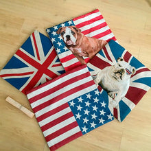 Load image into Gallery viewer, All American and British English Bulldogs Cushion CoversCushion Cover
