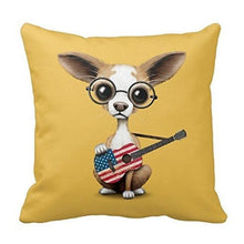Load image into Gallery viewer, All-American Guitar Chihuahua Cushion CoverCushion Cover