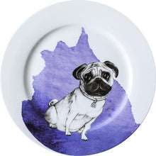 "Load image into Gallery viewer, Alsatian / German Shepherd Love 10"" Bone China Dinner PlatesHome DecorPug"