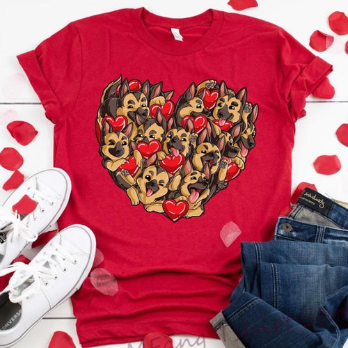 Alsatian / German Shepherd Love Womens T ShirtT shirt
