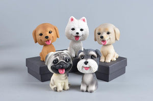 American Eskimo Dog / Pomeranian / Samoyed / Spitz Love Car Bobble HeadCar