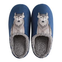 Load image into Gallery viewer, Artistic Husky Love Warm Indoor SlippersSlippers