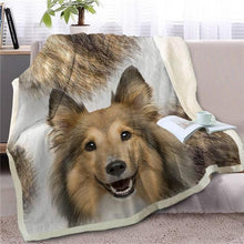 Load image into Gallery viewer, Australian Shepherd Love Soft Warm Fleece BlanketBlanketCollieSmall