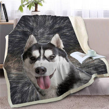 Load image into Gallery viewer, Australian Shepherd Love Soft Warm Fleece BlanketBlanketHuskySmall