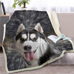 Australian Shepherd Love Soft Warm Fleece BlanketBlanketHuskySmall