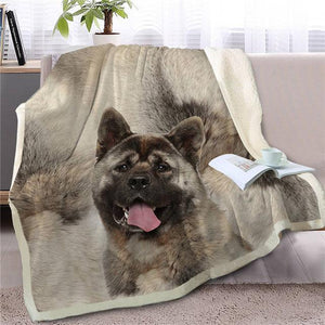 Australian Shepherd Love Soft Warm Fleece BlanketBlanketShepherdSmall