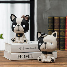 Load image into Gallery viewer, Baby Boston Terrier and Frenchie Table Top Piggy Bank OrnamentHome Decor