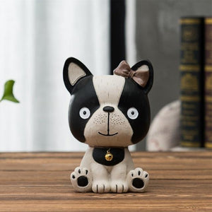 Baby Boston Terrier and Frenchie Table Top Piggy Bank OrnamentHome DecorBoston Terrier