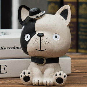 Baby Boston Terrier and Frenchie Table Top Piggy Bank OrnamentHome DecorFrench Bulldog / Frenchie