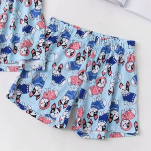 Baby Boston Terrier Summer Sleeping SetPajamas
