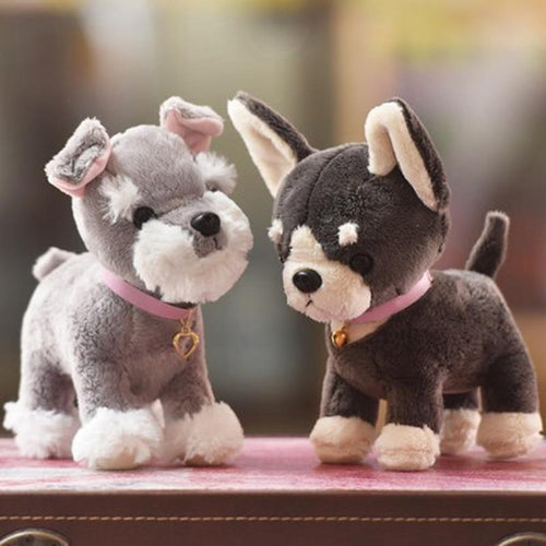 Baby Chihuahua and Schnauzer Love Stuffed Animal Plush ToysSoft Toy