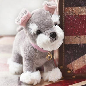 Baby Chihuahua and Schnauzer Love Stuffed Animal Plush ToysSoft ToySmallSchnauzer