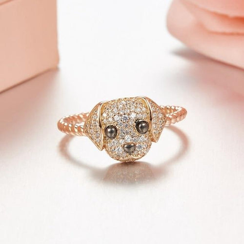 Baby Labrador Love Silver RingJewelleryRing Size 6