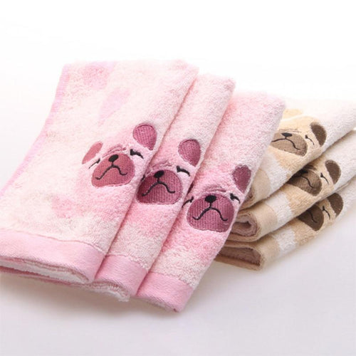 Pug Face Cotton Face TowelTowel