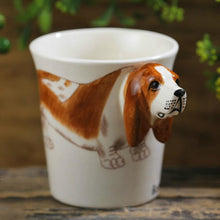 Load image into Gallery viewer, Basset Hound Love 3D Ceramic CupMug