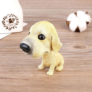 Basset Hound Love Car Bobble HeadCarLabrador Sitting