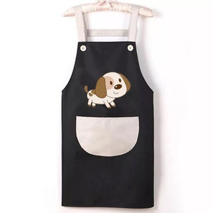 Beagle Love Kitchen ApronHome DecorBlack with White Pocket