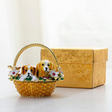 Load image into Gallery viewer, Beautiful Beagle Love Small Jewellery Box FigurineHome Decor